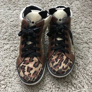 Justice Girls Leopard Sneakers